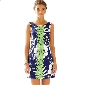 Lilly pulitzer navy monkey and flower print dress